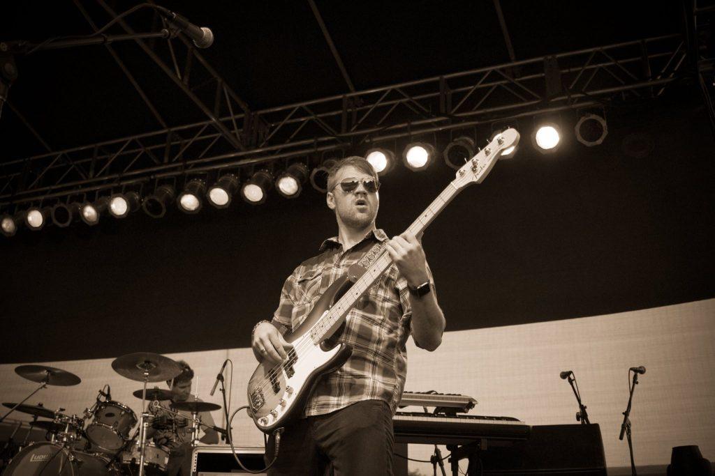 Graham Czach on Bass Guitar